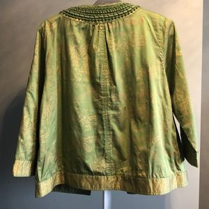 Green gold embossed dress jacket